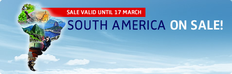 SOUTH AMERICA ON SALE!
