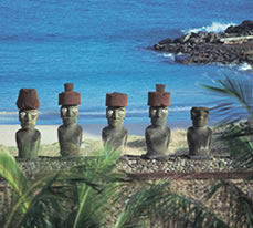 The Moai at Easter Island
