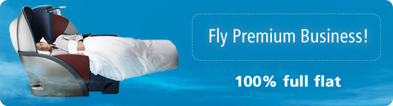 Fly Premium Business! 100% full flat 