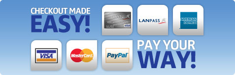 Checkout made easy! Pay your way!