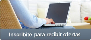 Inscribite para recibir ofertas