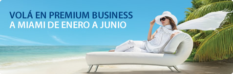 Volá en Premium Business a Miami