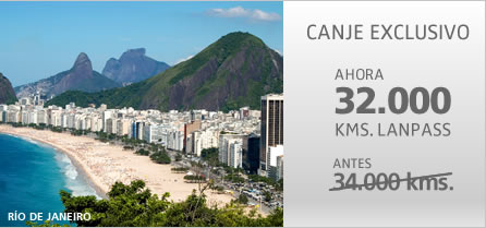 Canje Rebajado a R&iacute;o de Janeiro