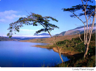 Calm waters: Lago Calima is a reservoir near Cali, popular with watersports fans