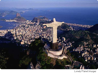 Statue of Christ the Redeemer, standing 30m (98 ft) high on Mount Corcovado