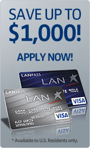 Apply today for your LANPASS Visa®